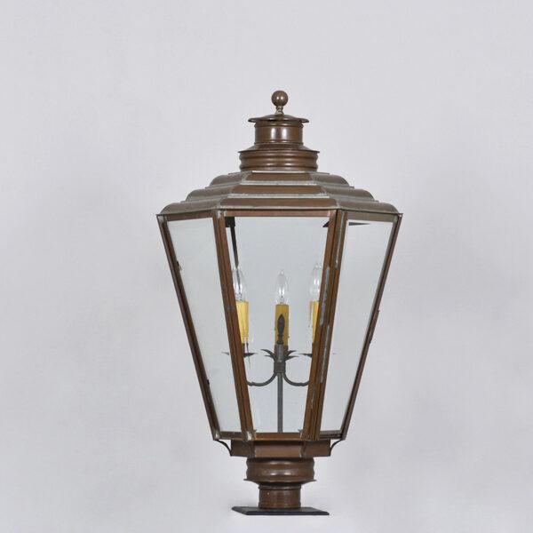 English Gas Post Lantern